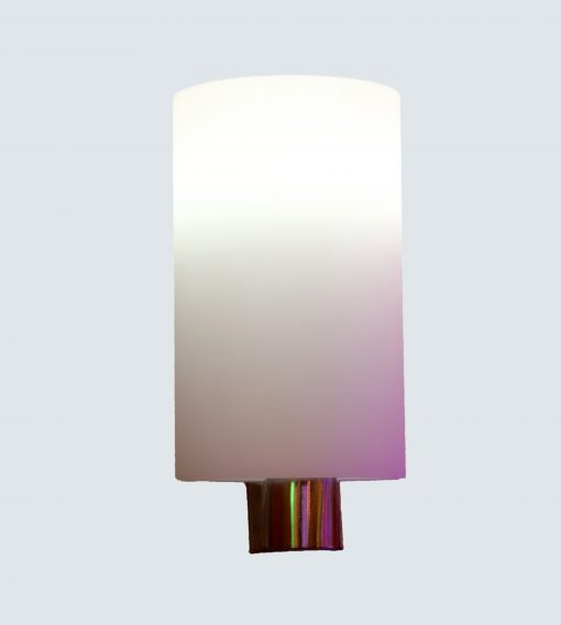 Single Wall Lamp In Glass With Glossy Aluminium Bracket Light N Decor